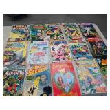 Box with vintage comic books / 10 cents , 25
