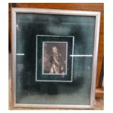 "Antique hand tinted Engraving ""portraiture"