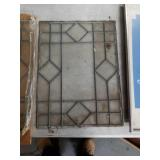 Bundle of 2 leaded glass panels