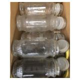 Box of glass canisters