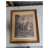 Pencil signed French print dated 1812