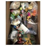 Box of misc vintage toys