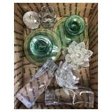 Box of crystal candle holders