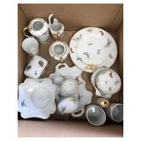 Box of Limoges French China butterfly