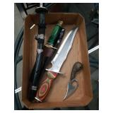Box of surgical steel knives katana etc