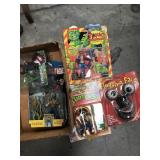 Box of vintage collectible toys
