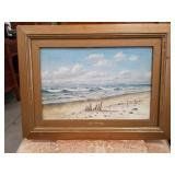 Ocean oil painting on canvas signed and dated 1897