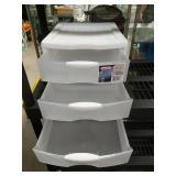 Sterilite 3 drawer plastic organizer