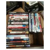 Box of 28 DVD and Blu-ray movies