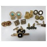 Collection of cuff links in bag