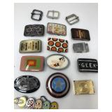 Box of belt buckles