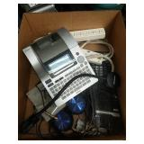 Box of misc office label printer etc