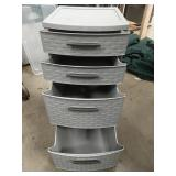 Chest of Sterilite 4 plastic drawer organizer