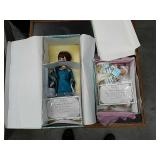 Box of madame Alexander dolls with certificate o