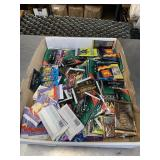 Box of trading cards sealed new old stock & others