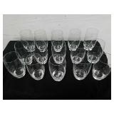 Group of 15pcs luigi bormioli crystal juice glass