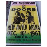 Jim Morrison and the doors vinyl poster