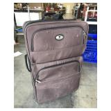 Leisure Brown Rolling Suitcase