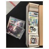 Box of basketball and Football Cards