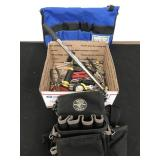 Box of Tools and Tool Belts
