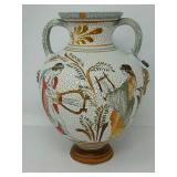 "Hand made Greek ceramic vase approx 7""x10"""