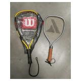 Pair of racquetball rackets