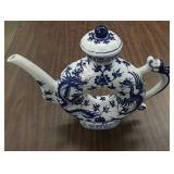 Hand painted and crafted Asian tea kettle