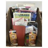 Basket of Coloring books/Supplies