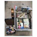 Large Tub of Paint/Scrap Booking supplies