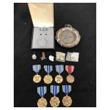 Military Achievement Medals & Ashtray