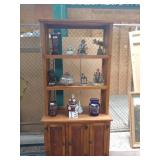 """Knotty pine book cabinet approx. 8ft.x44"""""""