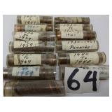 12.5 rolls of pennies. 1930