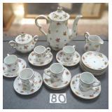 18 pc. handpainted tea set.