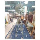 """vintage old metal windmill. approx 93""""."""