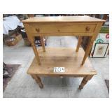 2 pine desks