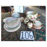 1 lot of franciscan and limoge china