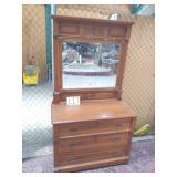 3 drawer oak eastlake dresser w/ mirror