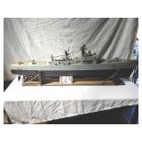 """70"""" heavy battleship w/ figures and weapons."""