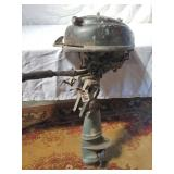 vintage johnson outboard motor. as-is
