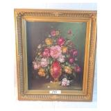 """signed floral painting. 30""""x 26"""""""
