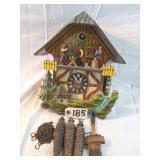 german cuckoo clock w/figures and wgts.