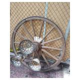 """large wagon wheel light. approx. 49"""" not wired"""