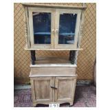 2 pc. primitive style cabinet