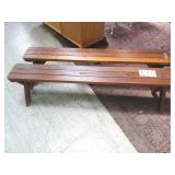 """2 redwood benches. 71"""" long"""