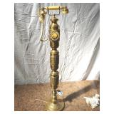 "brass standing telephone. 42"". cord cut"
