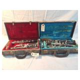 2 clarinets in cases
