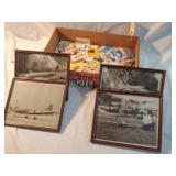 ctn. w/ numerous vintage cards. carnation dairy