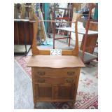 oak vintage washstand. 2 door, 2 drawers