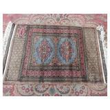 "bokara handmade prayer rug. 38""x25"""