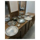 Box of vintage silver plated items.